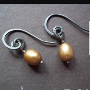 SILPADA COPPER PEARL EARRINGS